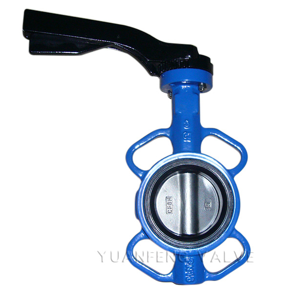 Aluminum Handle Lever Wafer Butterfly Valve