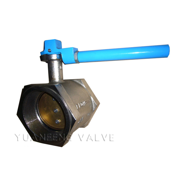 Nickel Plated Cast Iron Body Hale Butterfly Valve